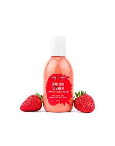 Uoga Uoga, Żel pod prysznic Jump into Summer z ekstraktem z truskawki, 250ml