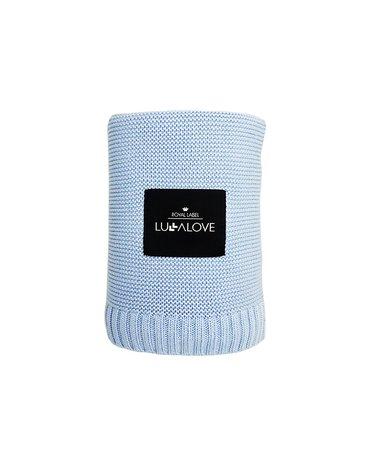 LullaLove, Duży Koc Bambusowy 100x120, Niebieski