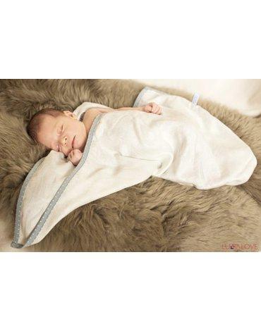 LullaLove, supeRRO newborn – kokon i pieluszka w jednym, ECRU, 70x70cm