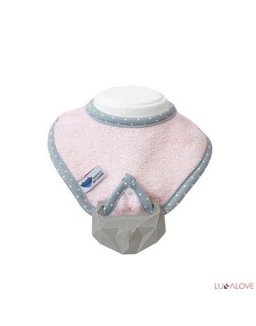 LullaLove,  supeRRO Baby HEVEA, Śliniak różowy