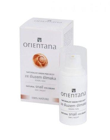 Orientana, Naturalny krem pod oczy ze śluzem ślimaka, 15ml