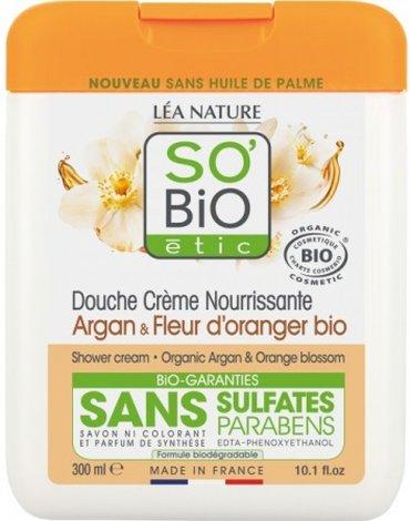 So Bio etic - SO BIO, Krem pod prysznic Argan i Kwiat Pomarańczy, 300 ml