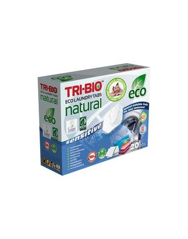 TRI-BIO, Naturalne eko kapsułki do prania Sensitive, 14 sztuk