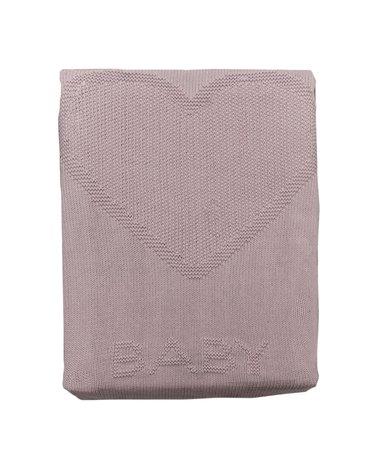 Kitikate, Kocyk Tkany z Bawełny Organicznej, 75x75cm, Heart, Pink