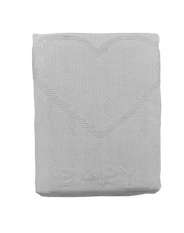 Kitikate, Kocyk Tkany z Bawełny Organicznej, 75x75cm, Heart, White