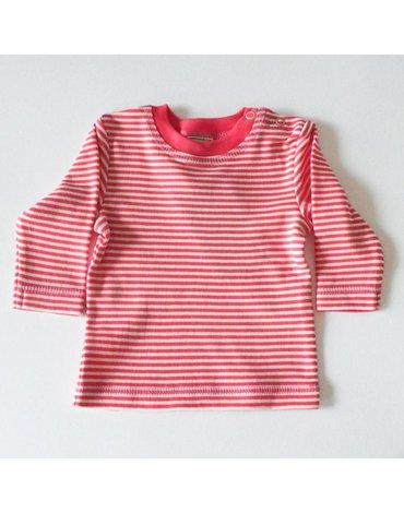 Lana Natural Wear, Bluzka z bawełny organicznej 50/56cm - różowa