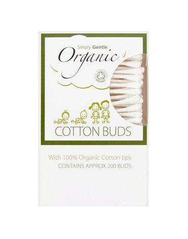 Simply Gentle, Organiczne Patyczki Kosmetyczne do Uszu (200 szt)