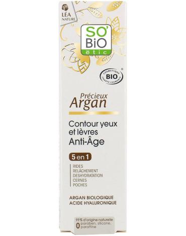 So Bio etic - SO BIO, Olejek arganowy, Przeciwzmarszczkowy krem pod oczy 5 w 1, 15ml