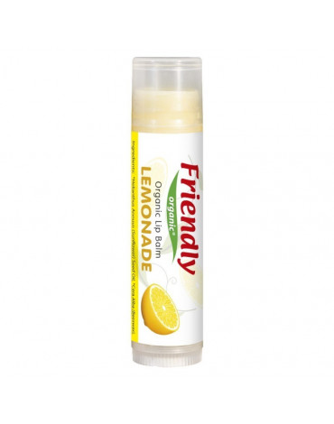 Friendly Organic, Organiczny balsam do ust, lemoniada, 4,25g