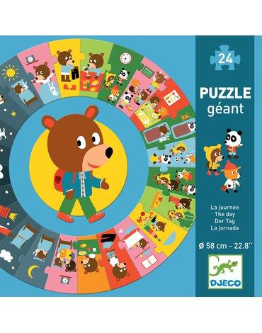 """Djeco - Puzzle kartonowe gigant """"DZIEŃ"""" DJ07015"""