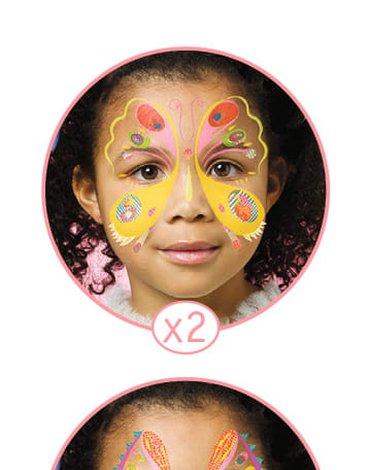 Djeco - Zestaw do malowania twarzy MOTYLKI DJ09206