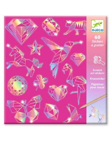 """Djeco - Wydrapyw.- naklejki holgraficzne """"DIAMENT"""" DJ09736"""