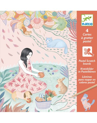 Djeco - Wydrapywanka PIKNIK (pastelowa) DJ09738