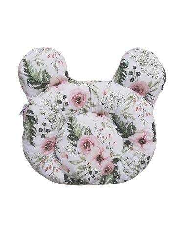 Poduszka kwiaty Gumimola; jasnoróżowa