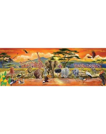 Melissa&Doug® - Puzzle podłogowe Safari 100 el.
