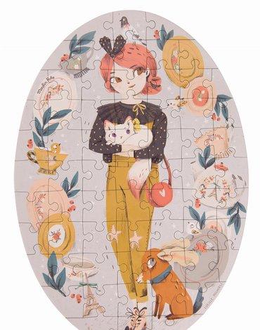 Moulin Roty - Puzzle - 65 elementów KONSTANCJA 642543