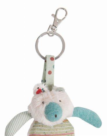 Moulin Roty - Breloczek do kluczy kremowy miś H12 665003