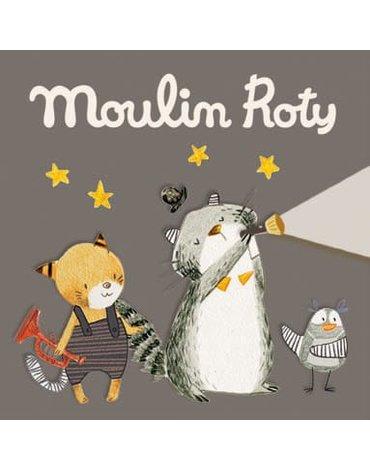 Moulin Roty - Zestaw 3 krążków z bajkami LES MOUSTACHES 666364