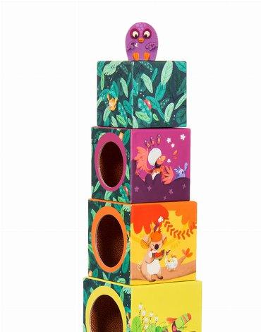 Moulin Roty - Interaktywne kostki z kurczątkami 668210