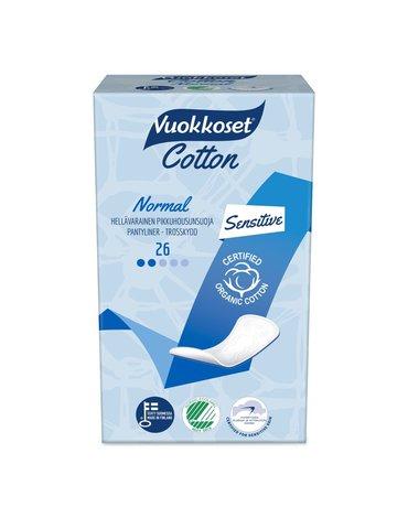 Vuokkoset, COTTON, Wkładki Higieniczne Normal Sensitive, 26 szt.