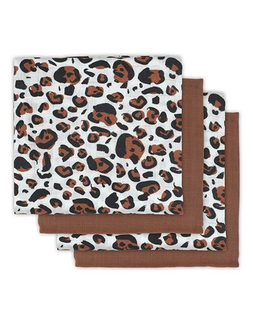 Jollein - Baby & Kids - Jollein - 4 pieluszki niemowlęce Hydrophlic 70 x 70 cm Leopard natural