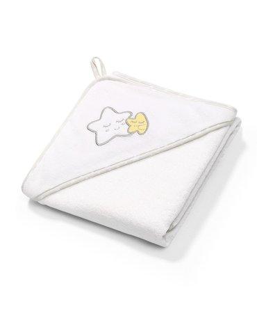 BABYONO - 141/07 Okrycie kąpielowe frotte - ręcznik z kapturkiem 76x76cm
