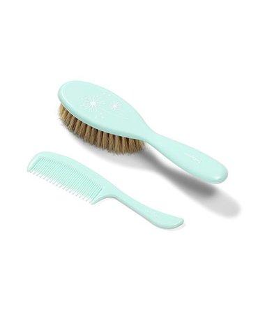 BABYONO - 567/03 Szczotka i grzebień do włosów dla dzieci i niemowląt. Naturalne miękkie włosie