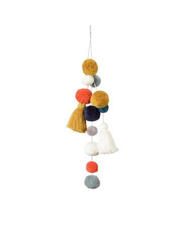 Wiszące pompony - dekoracja, 50x14cm, Kikadu