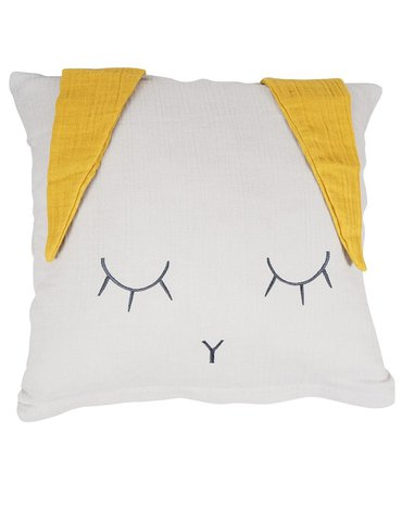 Poszewka na poduszkę 40x40cm, Królik, żółte uszka, Kikadu