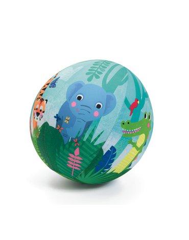 Djeco - Piłka materiałowa DŻUNGLA z balonami 23 cm DJ02056