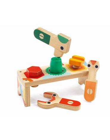 Djeco - Drewniany stół warsztatowy BRICOLOU DJ06418