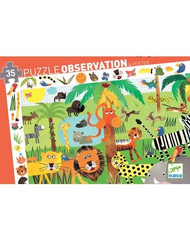 Djeco - Puzzle obserwacja DŻUNGLA  - 35 el.DJ07590