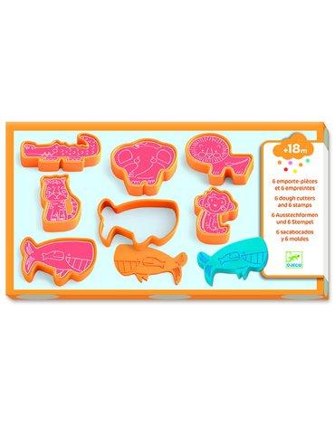 Djeco - 6 foremek-stempli do masy plast. ZWIERZĘTA DJ09024