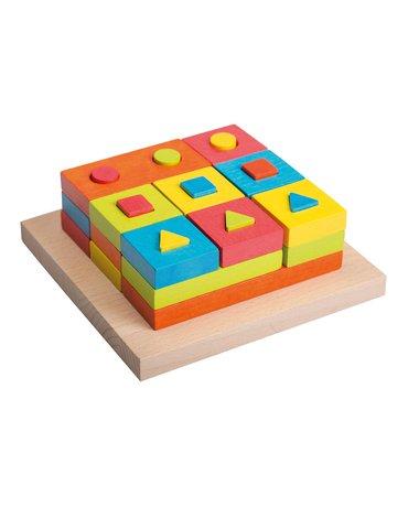 Joueco - Drewniana układanka / sorter 28 części