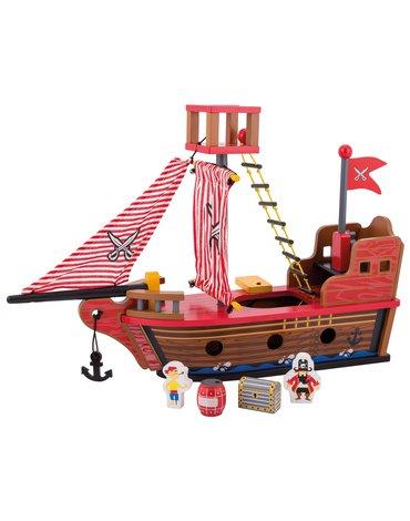 Joueco - Drewniany statek piracki 80077