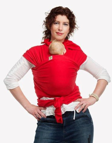 BYKAY - Chusta Stretchy Wrap Deluxe Oryginal  Red