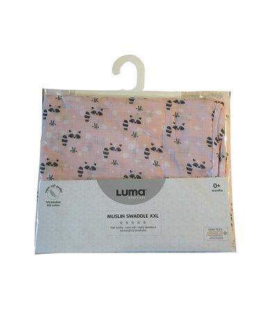 Muślinowy Otulacz 110x110 LUMA Racoon Pink