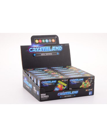 Crystaland - Klocki konstrukcyjne MIX  mini seria display 12szt