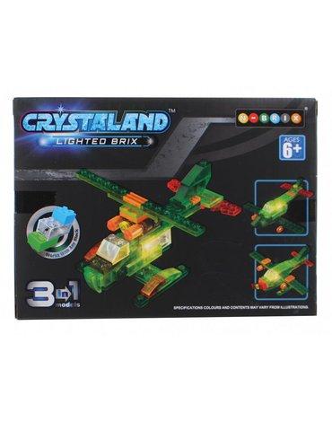 Crystaland - Klocki świecące LED 3w1 pojazd konstrukcyjny