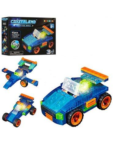 Crystaland - Klocki swiecace LED 3w1 pojazd konstrukcyjny
