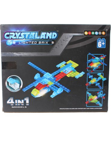 Crystaland - Klocki świecące LED 4w1 pojazd kosmiczny