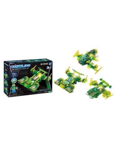 Crystaland - Klocki świecące LED maszyny kosmiczne green carrie