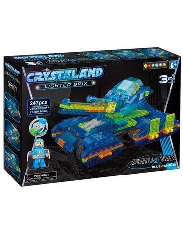 Crystaland - Klocki świecące LED maszyny kosmiczne blue cannon