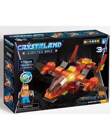 Crystaland - Klocki świecące LED maszyny kosmiczne orange fight