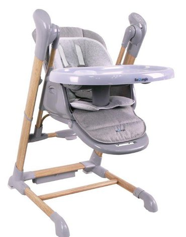 Bo Jungle - B-Krzesełko/huśtawka Swinging WOOD  Grey