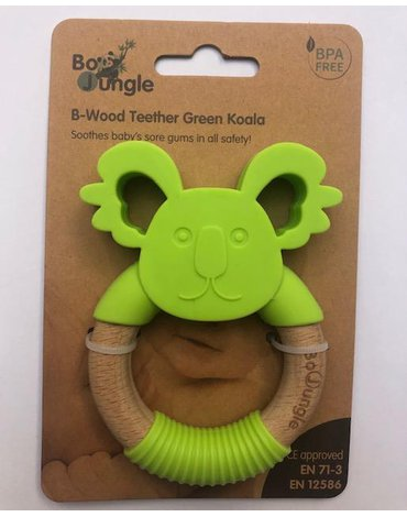 Bo Jungle - B-Gryzak drewniano-silikonowy Animals Green Koala