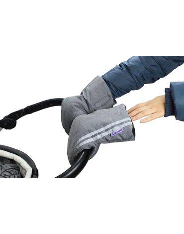 Dooky - Mufka do wózka/rękawice Grey z odblaskiem