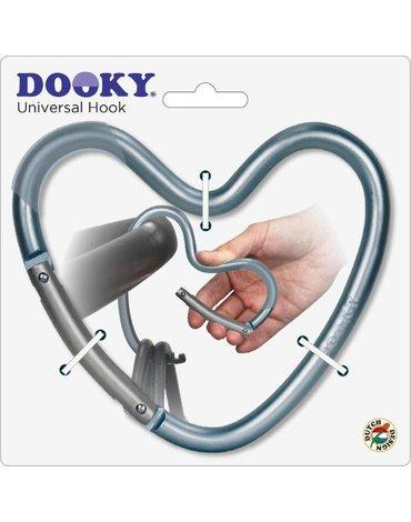 Dooky - Hak/zaczep do wózka serce Matt Blue
