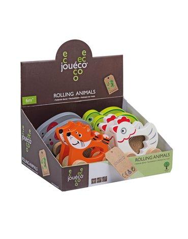 Joueco - Drewniane zwierzątka na kółkach