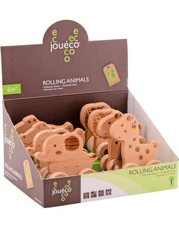 Joueco - Drewniane zwierzątka na kólkach